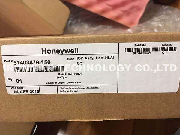 Honeywell MC-PHAI01 51403479-150 EPKS PM I/0 Processor (IOP) and FTA HLAI/HART