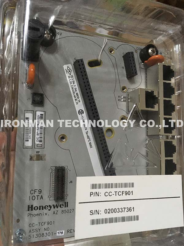 Honeywell CC-TCF901 controls the bottom panel of the fire wall